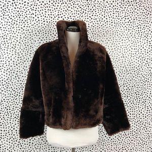 Reddish Brown Mouton Jacket